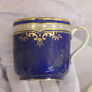 A first class China tea cup used by passengers on the Titanic (AP)