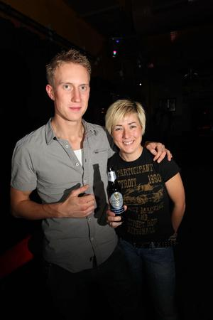 Paddy Heanley with Cool FM's Sonya Mac at the Limelight, Belfast