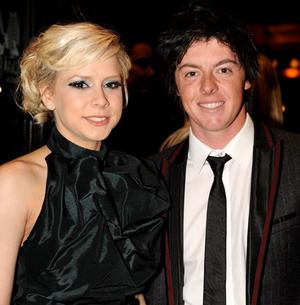 Rory McIlroy with Holly Sweeney at the Fate Awards