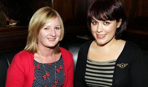 At Lavery's Bar in Belfast are  Lisa McBride and Kaie Blaire