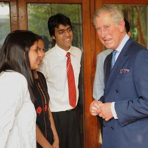 The Prince of Wales meets students from the Indian Institute of Technology (IIT) at the British High Commission in New Delhi