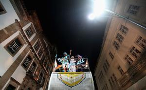 SALVADOR, BRAZIL - FEBRUARY 16:  Brazilians perform atop a truck on the first day of Carnival celebrations on February 16, 2012 in Salvador, Brazil. Carnival is the grandest holiday in Brazil, annually drawing millions in raucous celebrations culminating on Fat Tuesday before the start of the Catholic season of Lent which begins on Ash Wednesday. Salvador is the capital of the Northeastern state of Bahia and was the first colonial capital of Brazil. Police strikes in Salvador and Rio de Janiero in recent weeks threatened Carnival and raised questions about the countryÄôs preparedness to host the upcoming 2014 World Cup and 2016 Summer Olympics. Rio de JanieroÄôs Carnival begins tomorrow.   (Photo by Mario Tama/Getty Images)