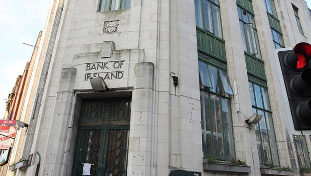 Occupy Belfast campaign takes over the old Bank of Ireland building on Royal Avenue