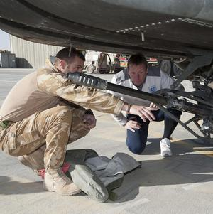 Stuart Pearce visits troops in Camp Bastion, Afghanistan (Lt Nick Southall RN/MoD Crown Copyright/PA Wire)