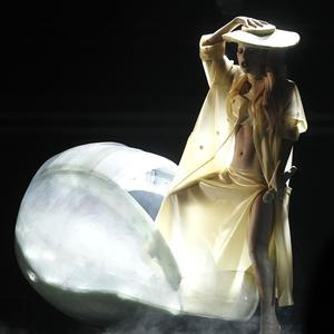 Lady Gaga performs at the 53rd annual Grammy Awards