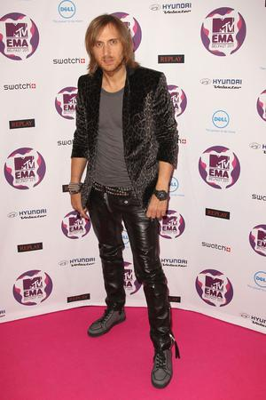 BELFAST, NORTHERN IRELAND - NOVEMBER 06: DJ and music producer David Guetta attends the MTV Europe Music Awards 2011 at the Odyssey Arena on November 6, 2011 in Belfast, Northern Ireland.  (Photo by Dave J Hogan/Getty Images)