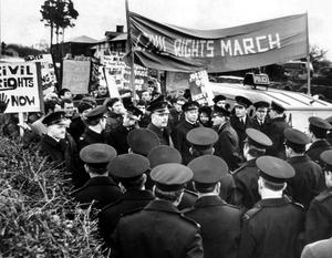 People's Democracy group organised a four-day march from Belfast to Londonderry, starting on 1/1/69. The most serious incident was near Burntollet Bridge in County Londonderry, when marchers were ambushed by some 200 loyalists.