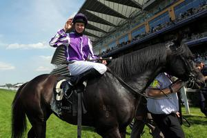 Joseph O'Brien celebrates his victory on So You Think in the 150th Anniversary of Prince of Wales's Stakes aduring day two of the 2012 Royal Ascot meeting at Ascot Racecourse, Berkshire