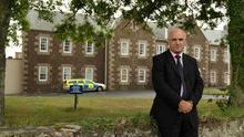 Storm on Jersey: Lenny Harper outside the Haut de la Garenne care home which was at the centre of his investigations