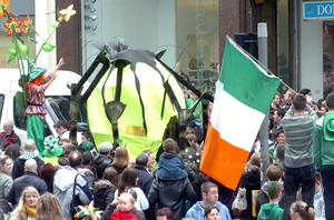St Patricks Day parade in High Street in Belfast this afternoon.