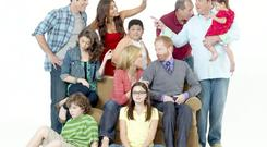 Take a bow: America is leading the way with riveting TV programmes like Modern Family and Christina Hendricks in Mad Men
