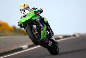 Superbike rider Ian Lougher pictured at the opening practice night of the Relentless North West 200