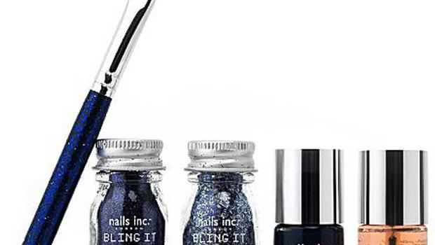 14. Bling it on Midnight glitter nails set by Nails Inc, £20, Selfridges