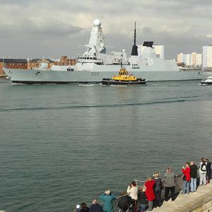 HMS Dauntless leaves Portsmouth for the Falklands Islands on her maiden mission