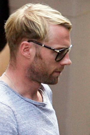 Ronan Keating of Boyzone walks  in the grounds of the Mon Port Hotel, in Majorca following the death of fellow band member Stephen Gately. Monday October 12 2009.