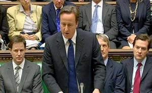 Prime Minister David Cameron tells MPs in the House of Commons that the Saville Inquiry into the Bloody Sunday killings found the actions of British soldiers was 'both unjustified and unjustifiable'