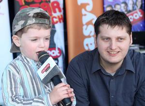 4 old  on Nathan Doherty stage performing at the City Beat Young Star search heat  held in the Wallace Park Lisburn