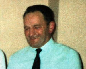 Robert Irons, one of the 7 workmen killed in the IRA 600lb bomb blast on the Omagh to Cookstown road at the Teebane crossing. Pacemaker Press