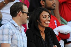 TV presenter Christine Bleakley ahead of the 2010 FIFA World Cup South Africa Round of Sixteen match between Germany and England at Free State Stadium on June 27, 2010 in Bloemfontein, South Africa