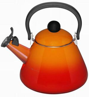 <b>7.Le Creuset - £59, lecreuset.co.uk:</b><br/> There's something satisfying about the whistle of a traditional stove-top kettle, particularly if you have a rustic kitchen. This is stylish and suitable for all hobs