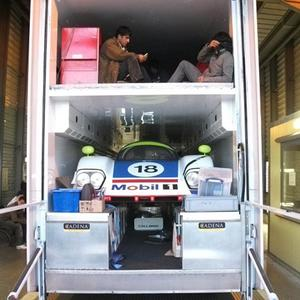 Illegal immigrants hiding in a lorry containing a £1 million racing car