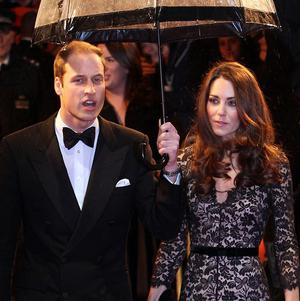 The Duke and Duchess of Cambridge arrive for the UK film premiere of War Horse at the Odeon, West End, London