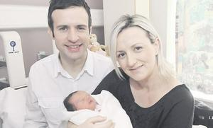 """Ciaran and Margaret Martin with their daughter Ciara <p><b>To send us your Baby Pics <a href=""""http://www.belfasttelegraph.co.uk/usersubmission/the-belfast-telegraph-wants-to-hear-from-you-13927437.html"""" title=""""Click here to send your pics to Belfast Telegraph"""">Click here</a> </a></p></b>"""