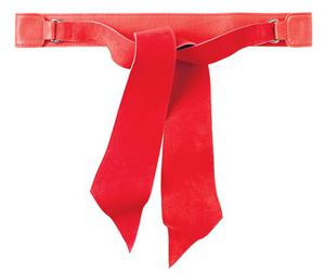 <b>Toast</b>: If you've got a minimal grey or camel coat and fancy making it look more individual, then this red suede and calf tie-belt is spot-on. £65, www.toast.co.uk