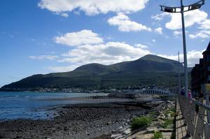 View from Newcastle's promenade capturing the promenade, beach, bridge and the Mournes in the background. Picture by Virginia Faro-Maza