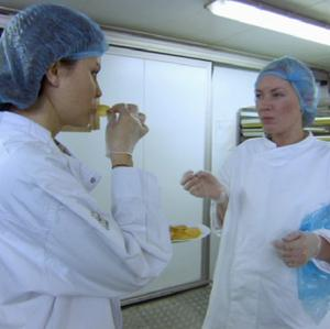 Laura Moore and Stella White argue over the crisps task