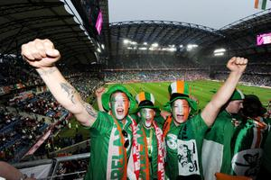 Republic of Ireland fans before the UEFA Euro 2012, Group C match at the Municipal Stadium, Poland