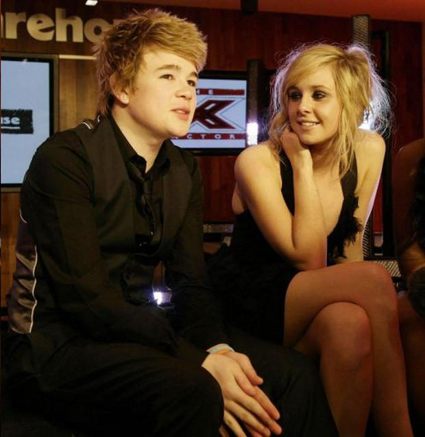 Eoghan Quigg with pal and X Factor rival Diana Vickers