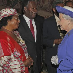 The Queen with President of Malawi Joyce Banda