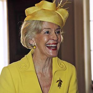 Australia's Governor General Quentin Bryce arrives for a lunch with Commonwealth heads of government and the Queen