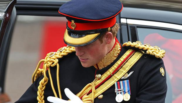 LONDON, ENGLAND - APRIL 29:  Prince Harry of Wales arrives to attend the Royal Wedding of Prince William to Catherine Middleton at Westminster Abbey on April 29, 2011 in London, England. The marriage of the second in line to the British throne is to be led by the Archbishop of Canterbury and will be attended by 1900 guests, including foreign Royal family members and heads of state. Thousands of well-wishers from around the world have also flocked to London to witness the spectacle and pageantry of the Royal Wedding.  (Photo by Chris Jackson/Getty Images)