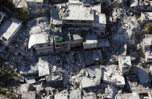 Some of the earthquake-devastated areas of Port-au-Prince, Haiti are seen in an aerial photo, Sunday Jan. 17, 2010.
