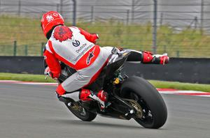 Michael Schumacher of Germany and Team Holzhauer Racing rides his bike during the International German Championship IDM training session at Sachsenring racetrack on June 12, 2009 in Hohenstein-Ernstthal, Germany