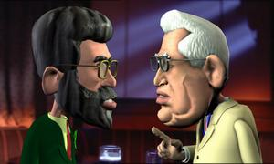 THIS could be the biggest political development of 2004 as Gerry Adams, complete with pint of Guinness, comes face-to-face with Ian Paisley. Or could it be a new united unionist front with Dr Paisley finally making peace with David Trimble in a show of solidarity that also includes Bob McCartney, Peter Robinson and David Ervine? Not in the real world of course - but definitely inside the head of impressionist Sean Crummy who is set to bring his hilarious Folks on the Hill radio show to television.