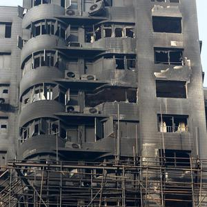 Authorities in Shanghai will prosecute 24 people for bribery and other crimes related to an apartment building fire that killed 58 people (AP)