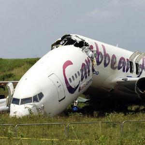 No one died when the Caribbean Airlines plane crashed at Cheddi Jagan International Airport in Guyana (AP)