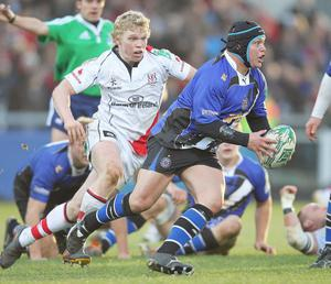 Nevin Spence in action for Ulster against Bath
