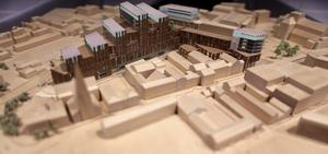The regeneration plans of the University of Ulster campus in York Street, Belfast.