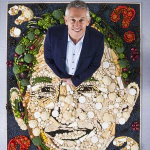 Gary Lineker is the subject of a tasty bit of artwork