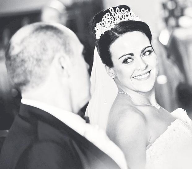 """Mark and Gillian Allison on their wedding day in Stranorlar, Co Donegal <p><b>To send us your Wedding Pics <a  href=""""http://www.belfasttelegraph.co.uk/usersubmission/the-belfast-telegraph-wants-to-hear-from-you-13927437.html"""" title=""""Click here to send your pics to Belfast Telegraph"""">Click here</a> </a></p></b>"""