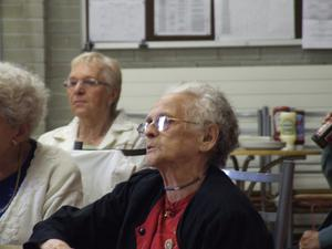 Some of the pensioners who were invited to dine