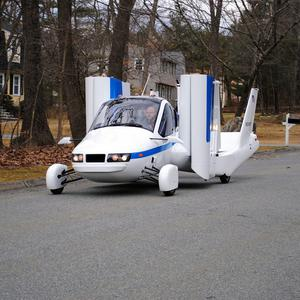 The Transition US flying car in its road mode (AP)