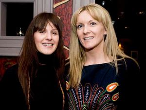 Kathy Agnew and Yvonne Cooke at the opening night of Horatio Todds
