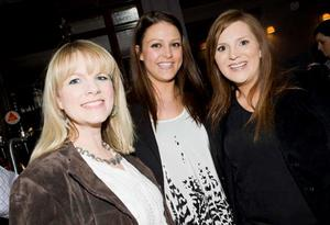 Nichola Leinster, Anna McCombe and Julie Scott at the opening night of Horatio Todds