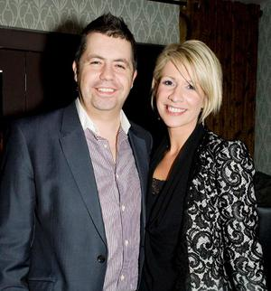 Glyn Roberts and Stephanie McConville at the opening night of Horatio Todds