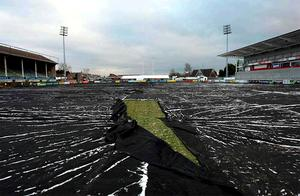 The frozen Ravenhill pitch was never going to be ready in time to stage tomorrow's Manger's League match